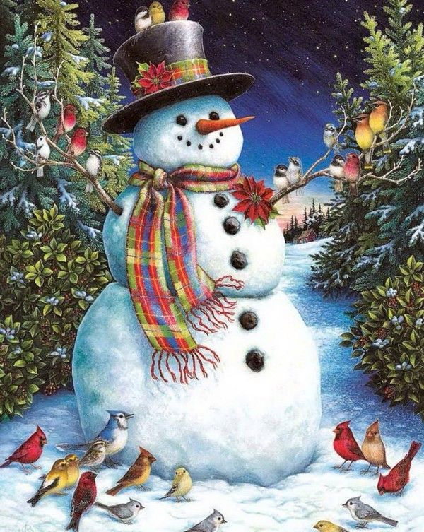 Related image Christmas by Donna Race in 2018 Snowman, Christmas
