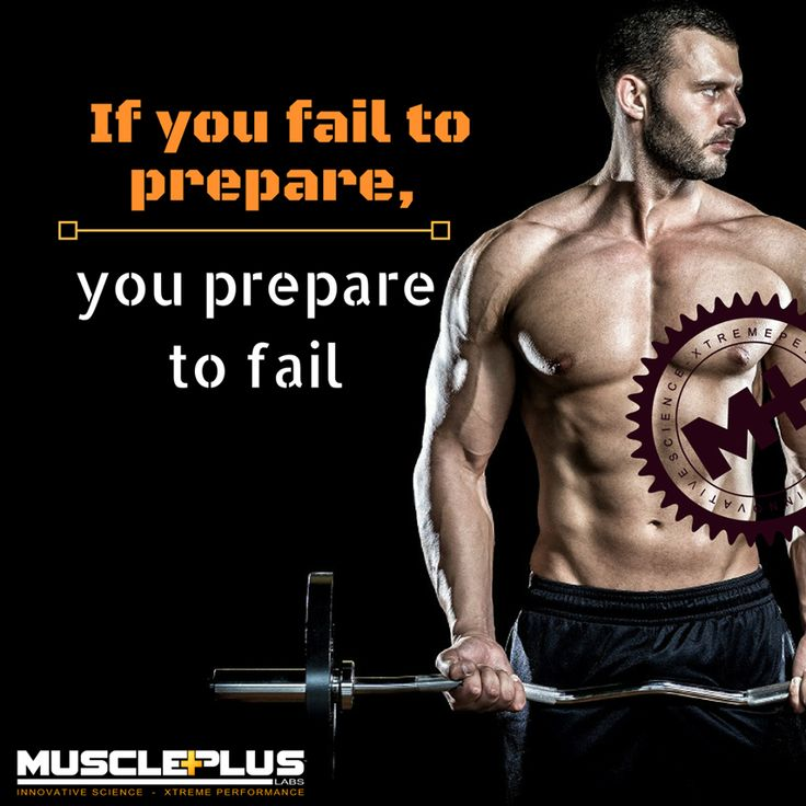 If you fail to prepare, you prepare to fail #musclepluslabs #whey #protein #muscle #repair #growth #fitness #fitspo #gains #trainhard #befit #exercise #cardio #bcaa