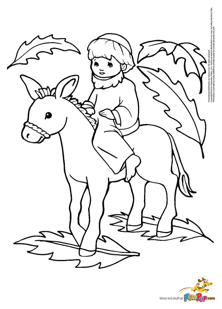 Palm Sunday Coloring Page | 6 - Religious Coloring Pages ...