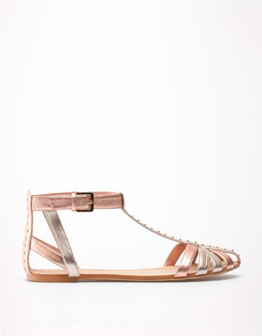 rose metallic sandals #bsk
