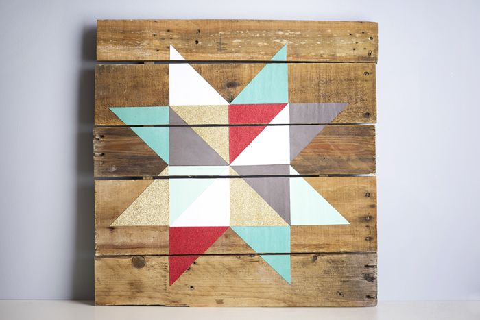 Quilting star pallet sign tutorial (Cricut Design Space link included!)