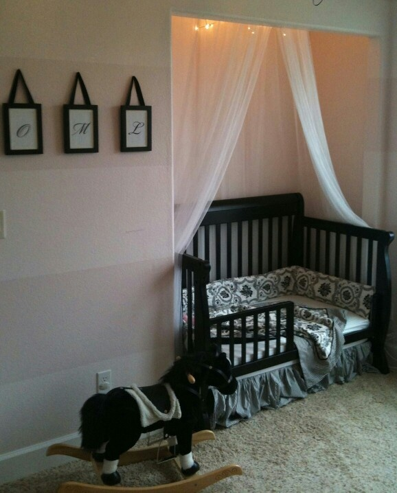 Crib In Open Closet Idea. I am totally doing this, saves so much floor space.