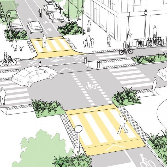 Galeria de 5 propostas de cruzamentos mais seguros para diferentes modais de transporte - 5