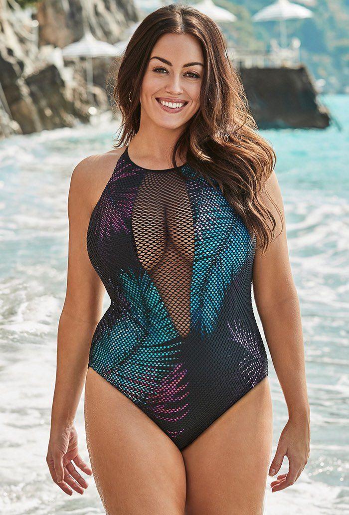 Venice Mesh High Neck One Piece Swimsuit In 2019 Swimwear Plus Size Swimwear Swimsuits Fashion