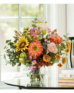12 best silk flowers centerpiece images on pinterest silk flowers mixed flower berry silk centerpiece mightylinksfo