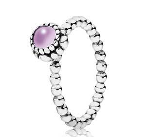 Pandora Jewelry Ring 2012 | sterling silver & amethyst february birthstone ring