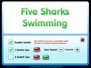 Smarty Pants and Five Sharks Swimming: ipad apps that are switch accessible