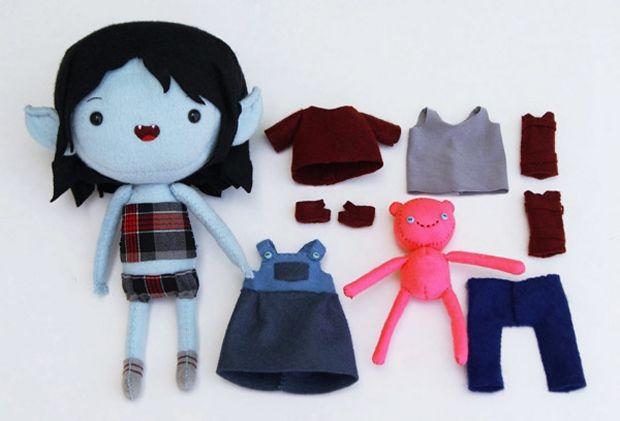Adventure Time Plush Dress Up Dolls - Marceline