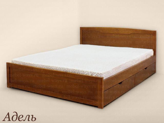 """МебельВэйс. Интернет магазин недорогой мебели > Деревянные кровати > Недорогие кровати из дерева > Недорогая кровать с одной спинкой """"Адель"""""""