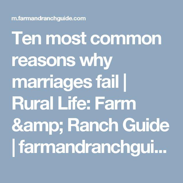 Ten most common reasons why marriages fail | Rural Life: Farm & Ranch Guide | farmandranchguide.com