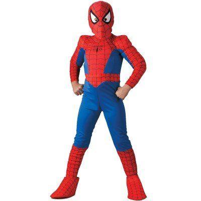 Deluxe Kids Spiderman Costume - Official Spiderman Costumes @ niftywarehouse.com #NiftyWarehouse #Spiderman #Marvel #ComicBooks #TheAvengers #Avengers #Comics