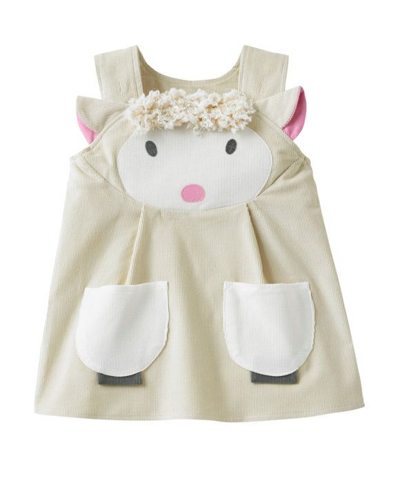 baby girls lamb dress por wildthingsdresses en Etsy