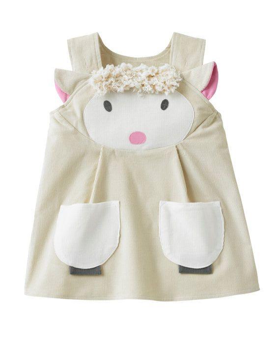 bebé niñas vestido de cordero por wildthingsdresses en Etsy