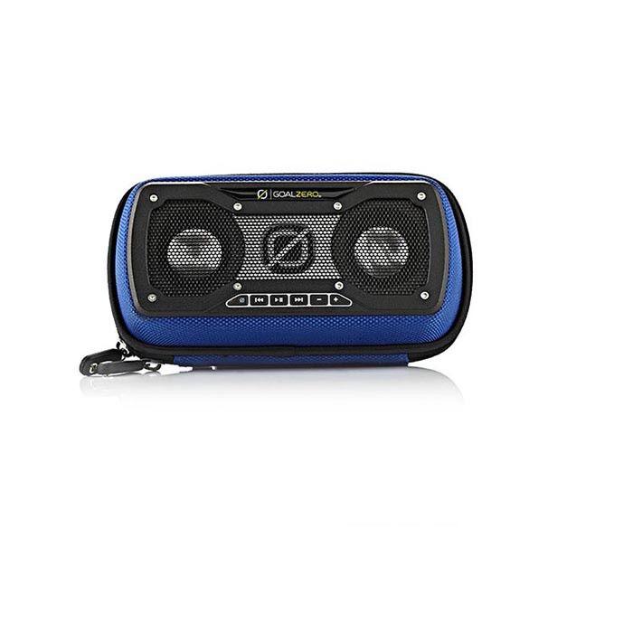 Goal Zero Rock Out 2: φορητό ηχοσύστημα υψηλής αντοχής με προστατευτική θήκη για iPhone και iPod.
