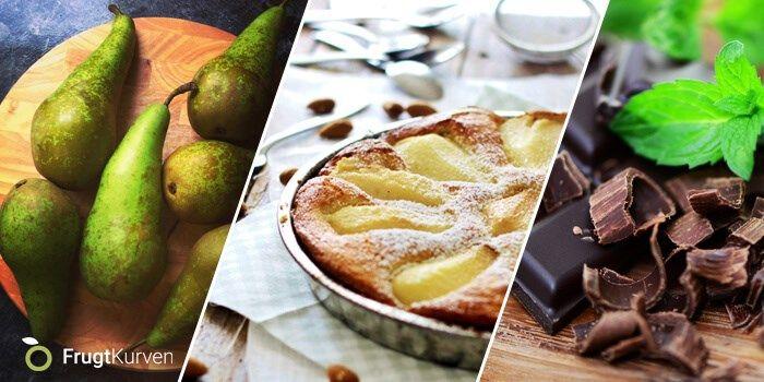Opskrifter til en sundere hverdag - Hver måned  Maddies Pærekage med hakket chokolade Forkæl dig selv og familien i efterårsferien med denne vidunderlige kage, som vores søde medarbejder Maddie er mester til at bage, når hun synes, at vi trænger til lidt forkælelse her i FrugtKurven. Vi er vilde med den!