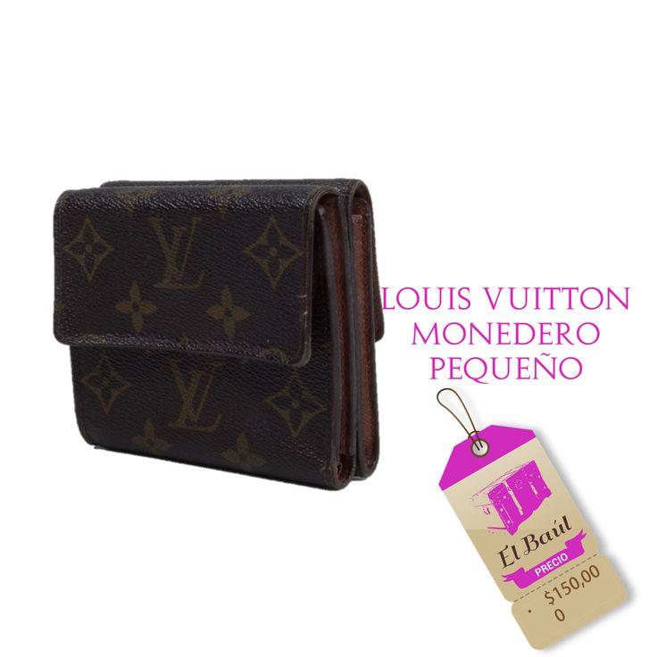 Monedero, Louis Vuitton nunca está en rebajas solo en El Baúl.  $150,000  http://elbaul.co/Productos/1447/Louis-Vuitton-monedero-peque%C3%B1o-