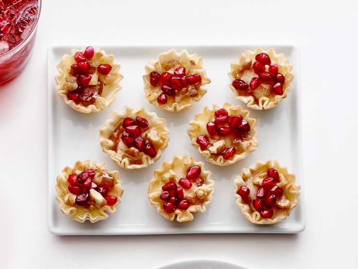 248 best appetizers images on pinterest appetizer recipes relish pomegranate brie phyllo cups recipe from food network kitchen via food network forumfinder Gallery