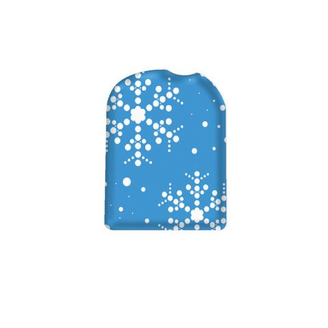 """OmniPod© Peelz for the OmniPod Insulin Pump Management System Blue Snowflake Pump Peelz - Decorating Diabetes ** Use promo code """"Pinterest"""" to save 15% on your entire order!"""