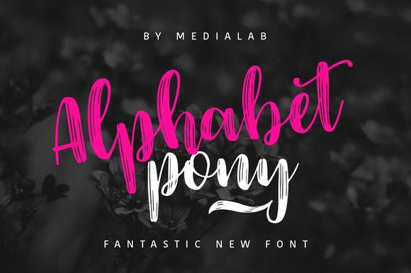 Alphabet Pony by MediaLab on @creativemarket