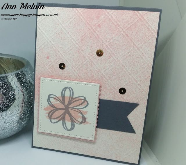 Ann's Happy Stampers: Plain & simple spritzed card