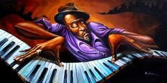 Blue Notes by Frank Morrison (Limited Edition Art Print) | The Black Art Depot