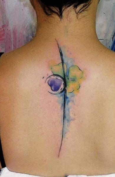 Татуировка клевер