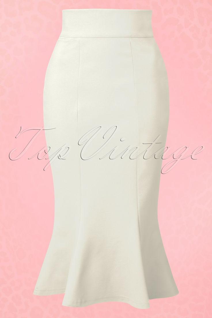 De 50s Diva Suit Skirt is een elegante pencil rok met een sexy touch!Draag hem naar je werk, een romantisch etentje of een chique feestje!