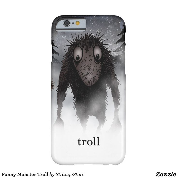 Funny Monster Troll Barely There iPhone 6 Case