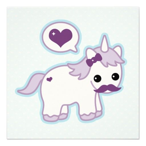 1000+ images about Blue Purple Birthday Party Invitations ...Unicorns With Mustaches