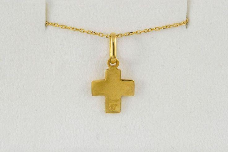 ILIAS LALAOUNIS CROSS NECKLACE YELLOW GOLD 18K #ILIASLALAOUNIS