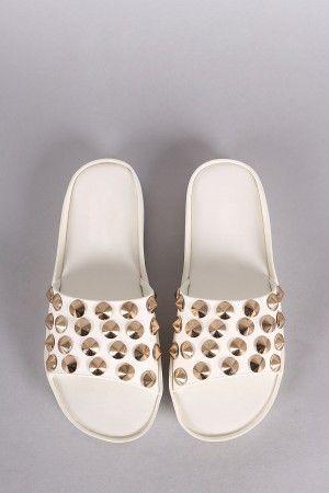 Sandalias Blancas con taches