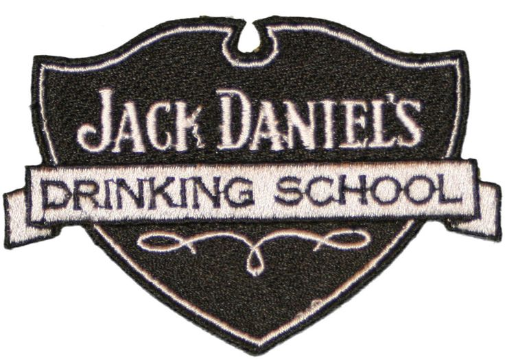"""Jack Daniels Old No.7 Drinking School 100% Embroided JD Logo Iron on Patch 3.5"""" #Imported"""