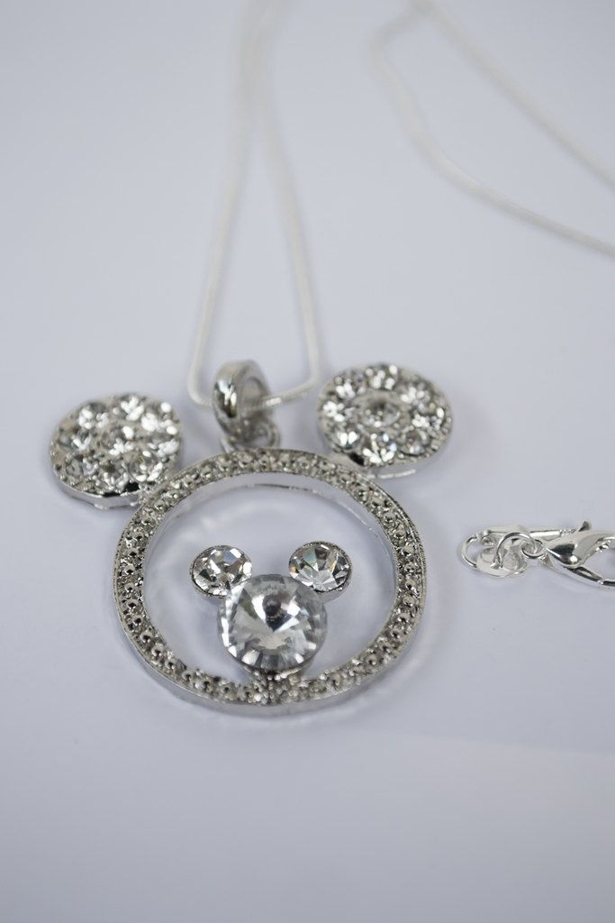 Mickey Mouse Necklace, Children's Sizes Available, Mickey Necklace, Mickey  Mouse Head Necklace,