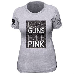You can get a discount on this Grunt Style - Women's Love Guns, Hate Pink Shirt on GovX! If you sign up here, you get $15 off your first order!