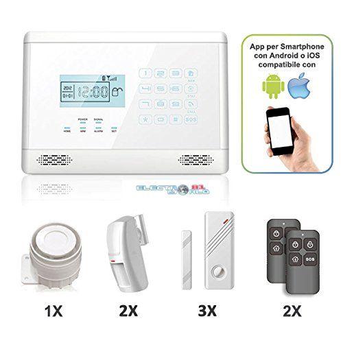 KIT MEDIUM Sistema Allarme Automatico WHITE Casa Controllo GSM App Domotica