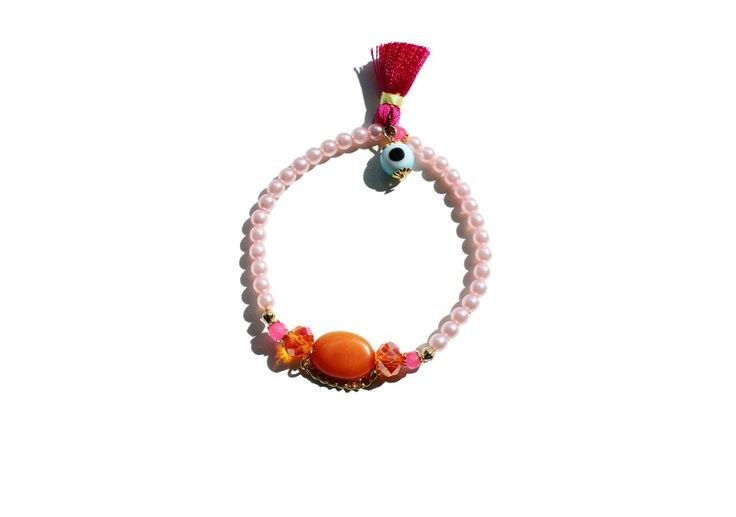 New cute armcandy. So in love with this pink/orange combination. Order by email at: info@armcatchers.com.