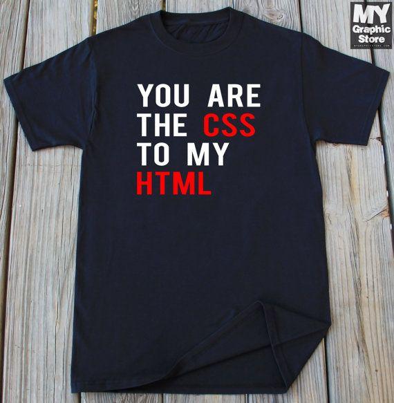 Funny T-Shirt HTML T-Shirt Programmer Shirt by MyGraphicStoreCo