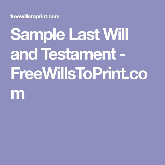 Best 25+ Will and testament ideas on Pinterest Last will and - sample living trust form