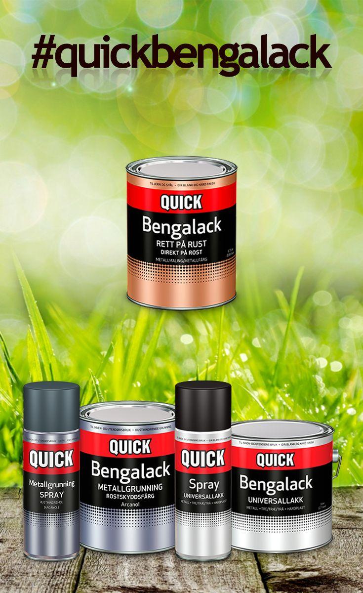De to ledende merkene i kategorien har blitt slått sammen til ett produkt - Quick Bengalack! Produktet dekker hele metallkategorien og har de samme gode egenskapene. :)  Liker du også at det er enkelt å fonye tingene dine?  #bengalack #quickbengalack