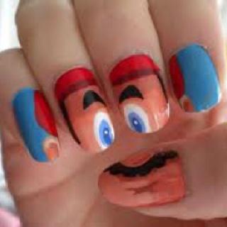 Mario nail art!