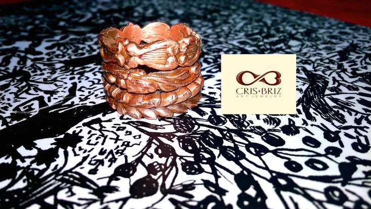 Stacken copper rings by Cris Briz. You can wear them together or separate.