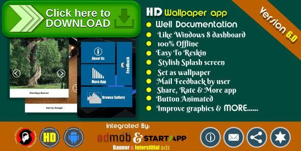 [ThemeForest]Free nulled download HD wallpaper app with Admob and Startapp from http://zippyfile.download/f.php?id=45151 Tags: ecommerce, Admob Integrated, android app, exclusive app source code, full template, golakar app source code, HD wallpaper source code, play service, project code, source code, startapp, WallPaper App