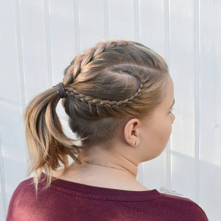 Braids & Hair by @terttiina Instagram: Five strand ribbon braid and small lace braids into a ponytail!