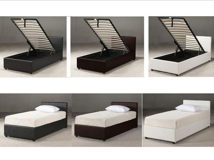 3ft Single Ottoman Storage Bed - Black Brown White - With Mattress Options  - New - 25+ Best Ideas About Ottoman Storage Bed On Pinterest Ottoman