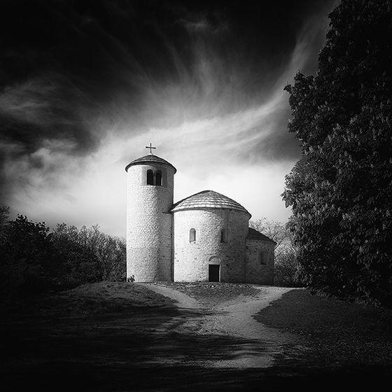 Mount Rip, Czech republic.Rotunda St. George, Artwork by Vladimir Zachoval. Image #432200