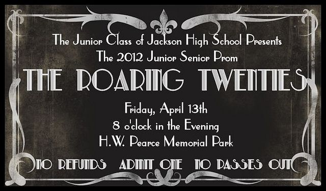 Roaring Twenties Prom Ticket 2012 by leigh49137, via Flickr