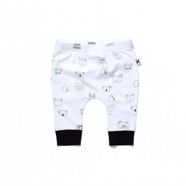 Minti Baby Animal Friends Baby Cosy Pant White
