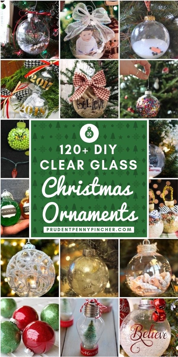 DIY Craft: 120 DIY Clear Glass Christmas Ornaments <a class=