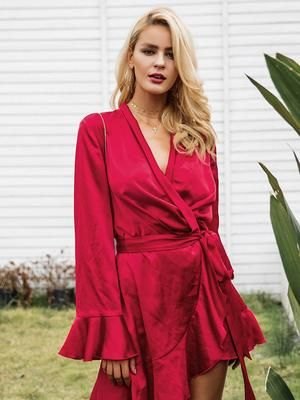 Elegant Satin Dress with Sashes  $38.12 New Butterfly Sleeve Knitted Slim Dress Butterfly Sleeve Knitted Slim Dress QUICK SHOP Butterfly Sleeve Knitted Slim Dress  $34.23 -12%New