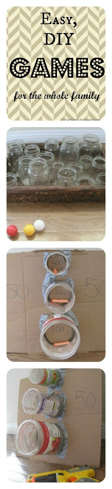 Family Game Night; Easy DIY Carnival Games